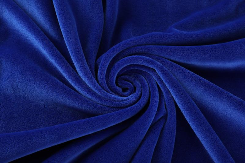 مزدوج الوجهين - الأزرق الملكي قماش الليونة